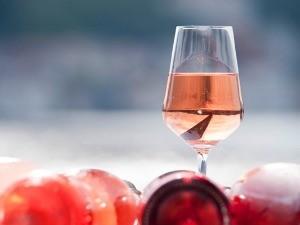 rosé verre
